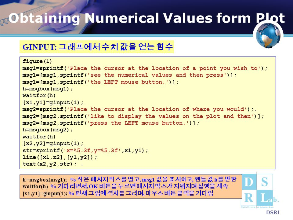 Obtaining Numerical Values form Plot