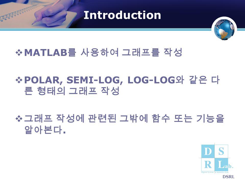 Introduction MATLAB를 사용하여 그래프를 작성