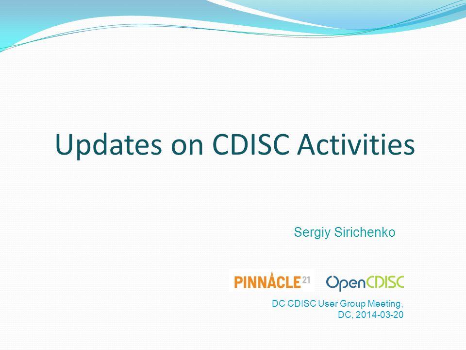 Updates on CDISC Activities