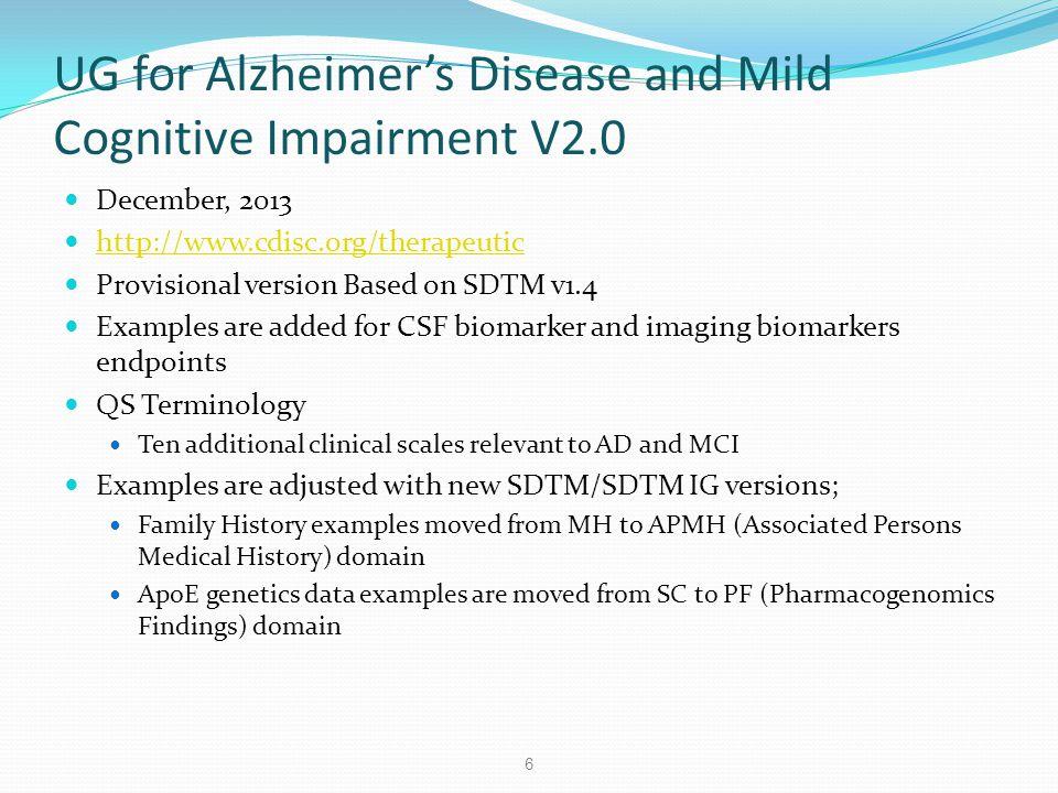 UG for Alzheimer's Disease and Mild Cognitive Impairment V2.0