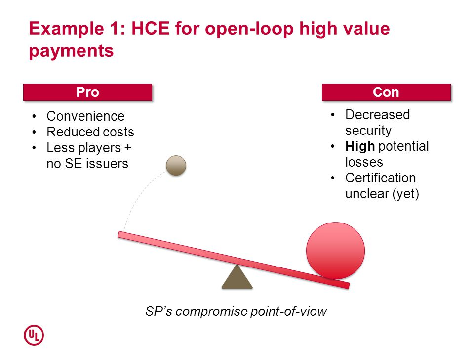 Example 1: HCE for open-loop high value payments