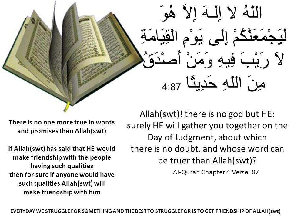 Al-Quran Chapter 4 Verse 87