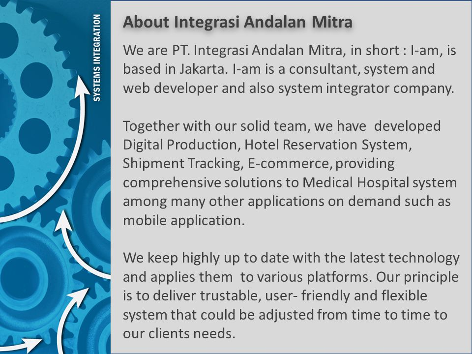 About Integrasi Andalan Mitra