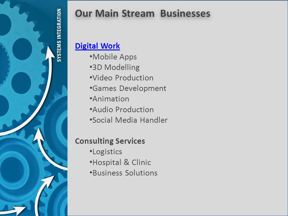 Our Main Stream Businesses