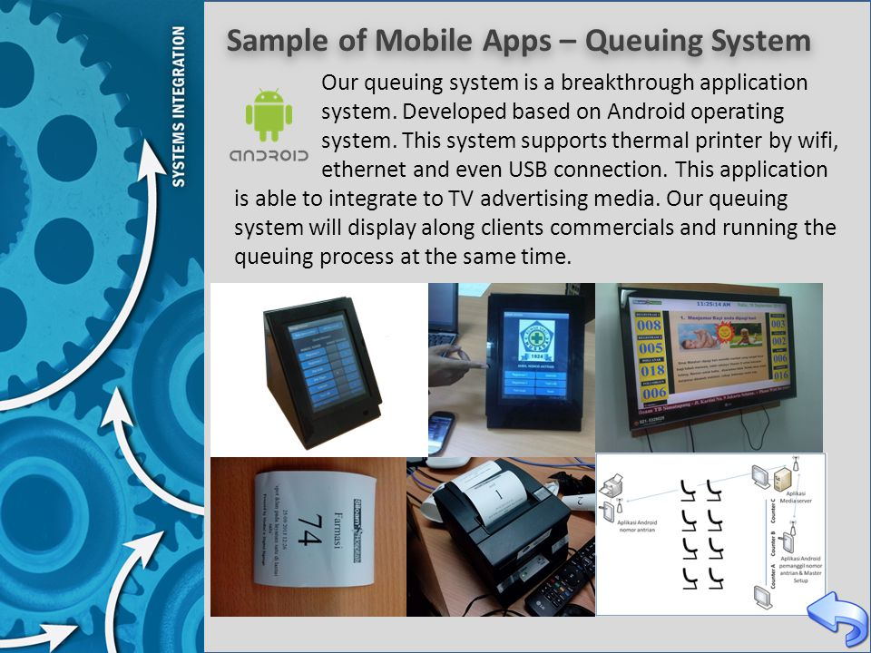 Sample of Mobile Apps – Queuing System