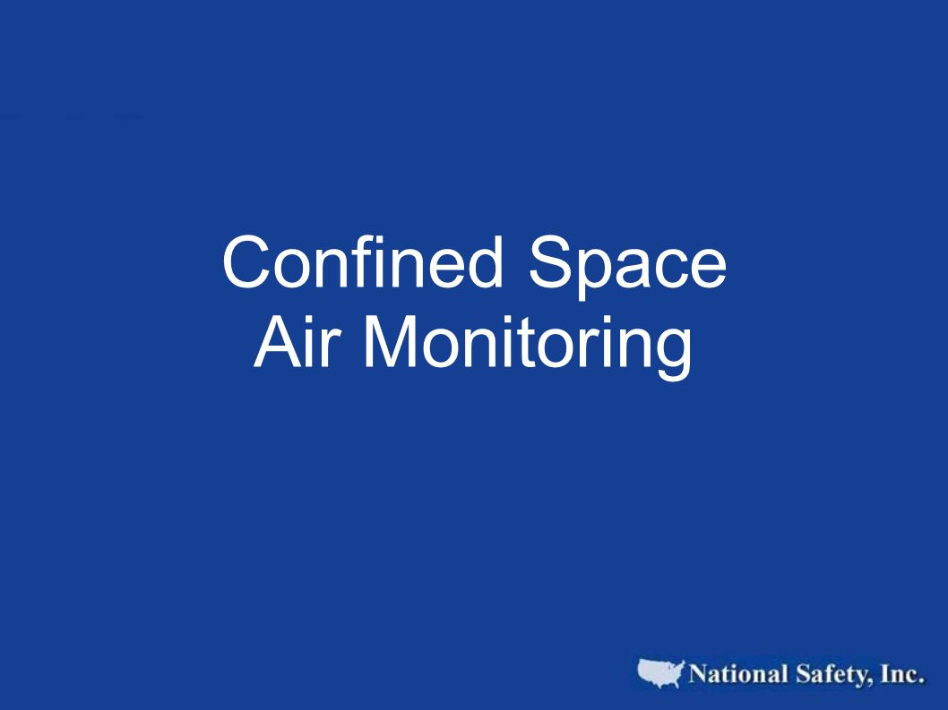 Confined Space Air Monitoring