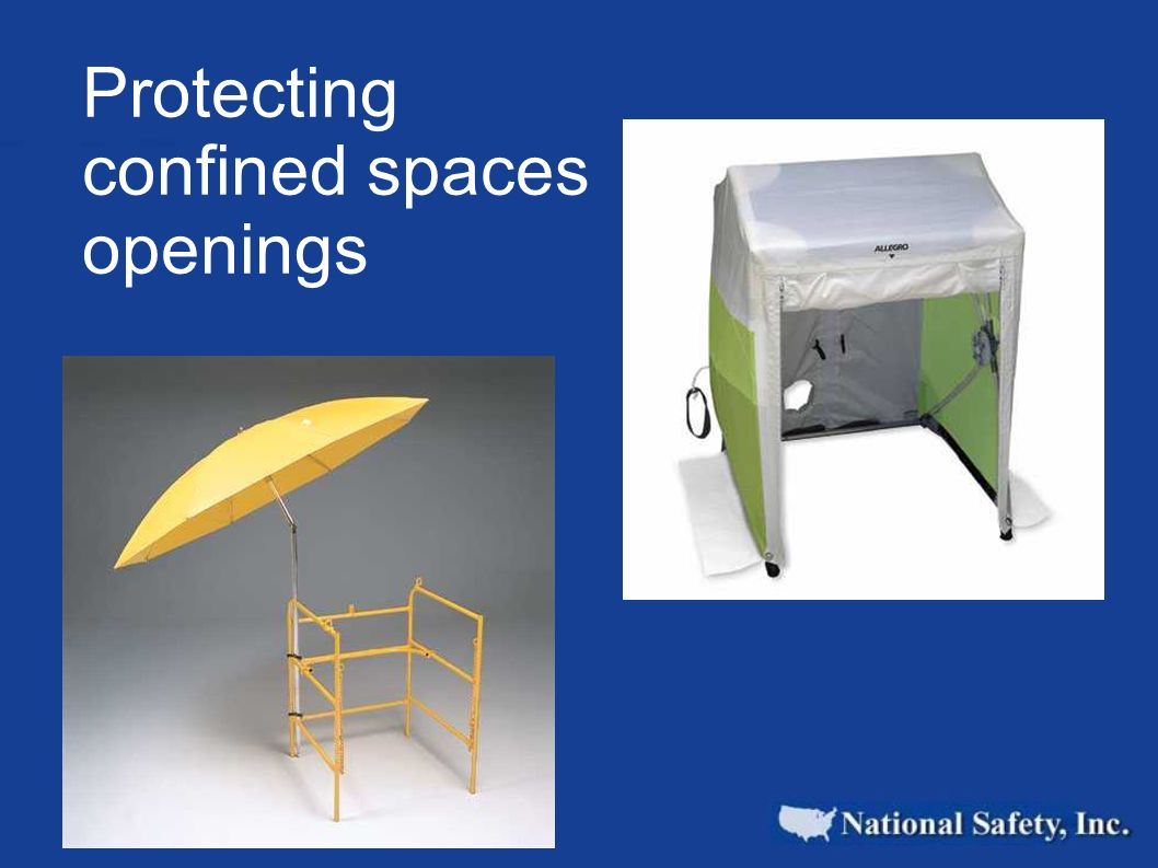 Protecting confined spaces openings