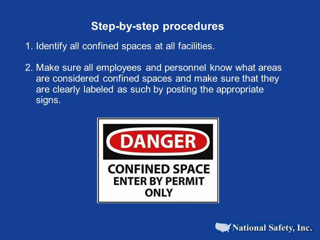 Step-by-step procedures