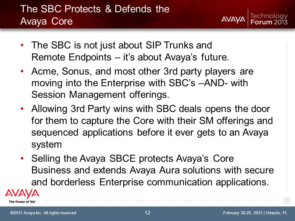 The SBC Protects & Defends the Avaya Core