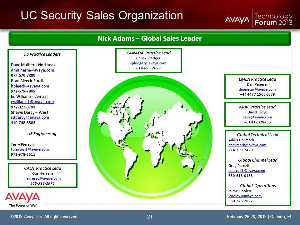 UC Security Sales Organization