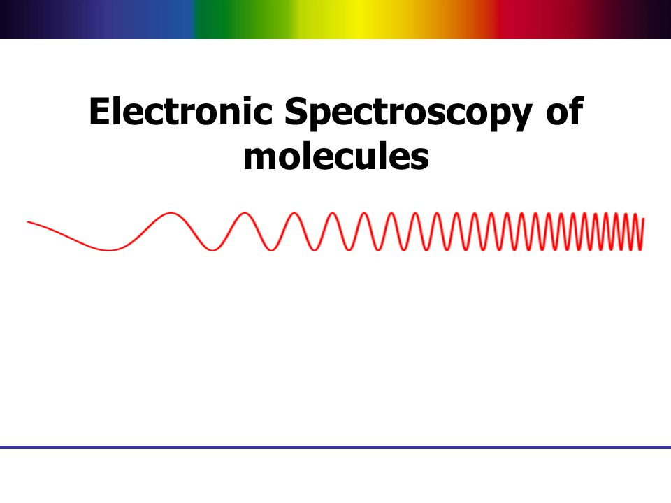 Electronic Spectroscopy of molecules