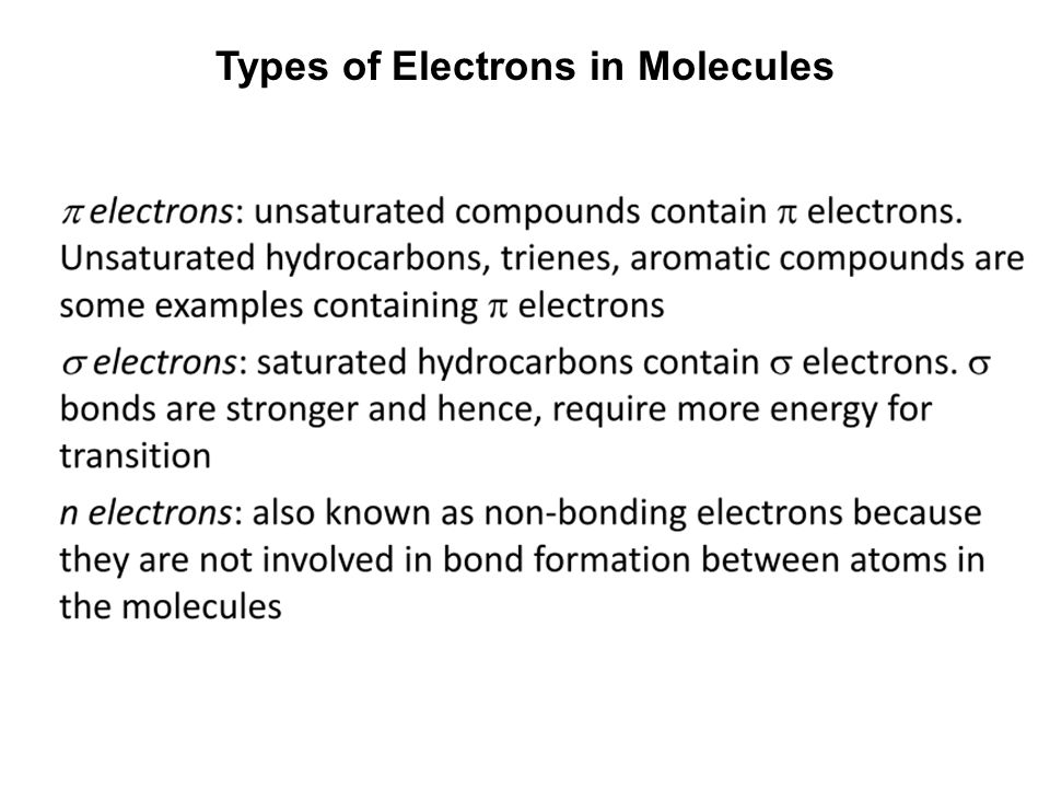 Types of Electrons in Molecules