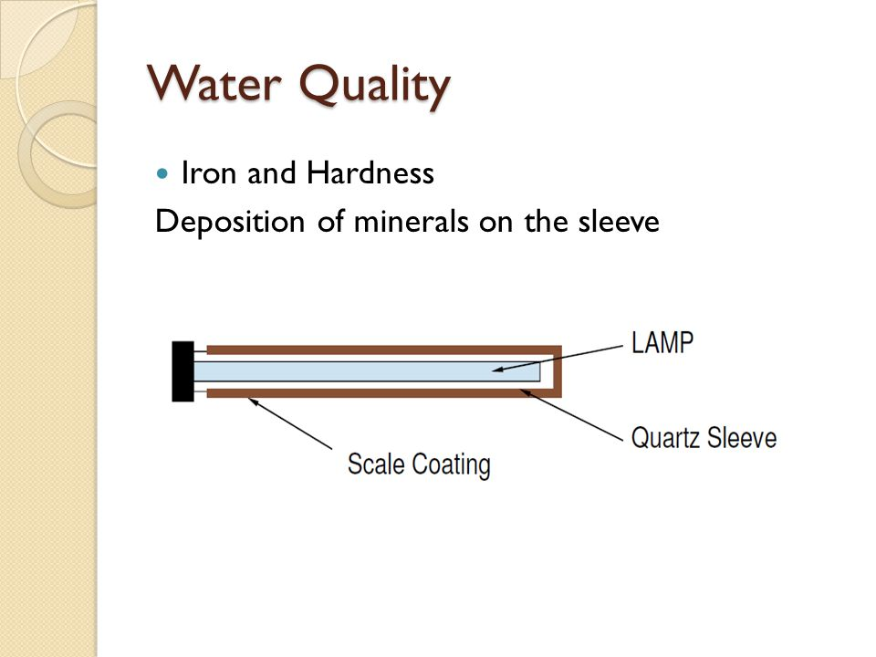 Water Quality Iron and Hardness Deposition of minerals on the sleeve