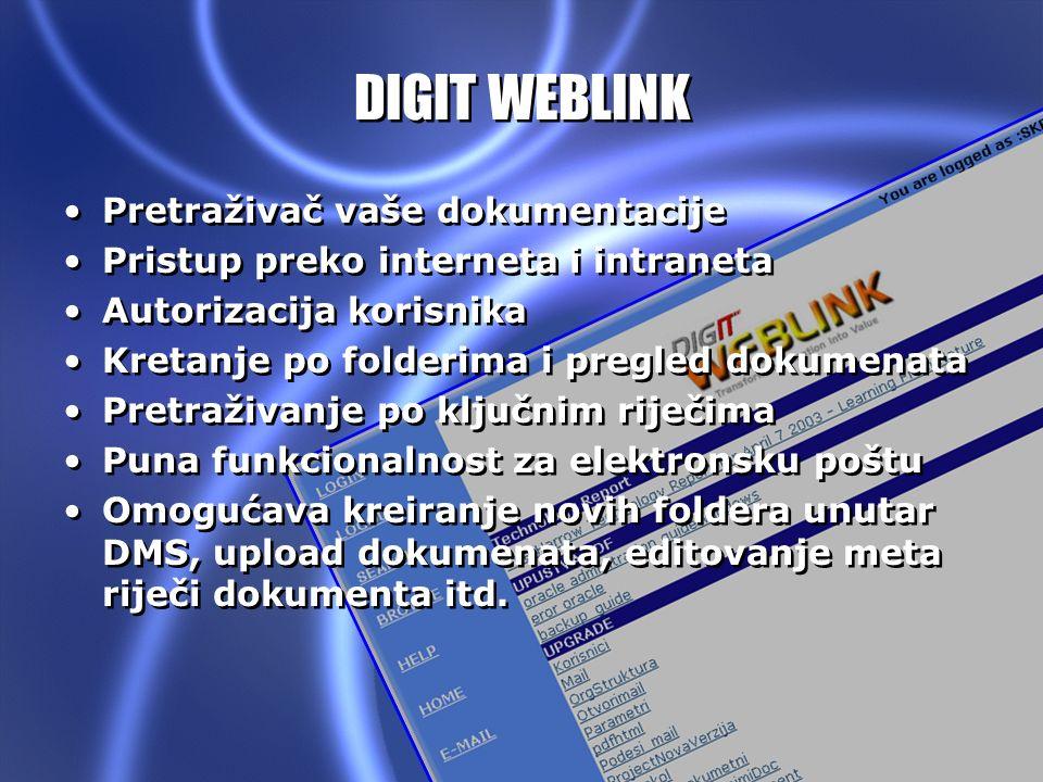 DIGIT WEBLINK Pretraživač vaše dokumentacije