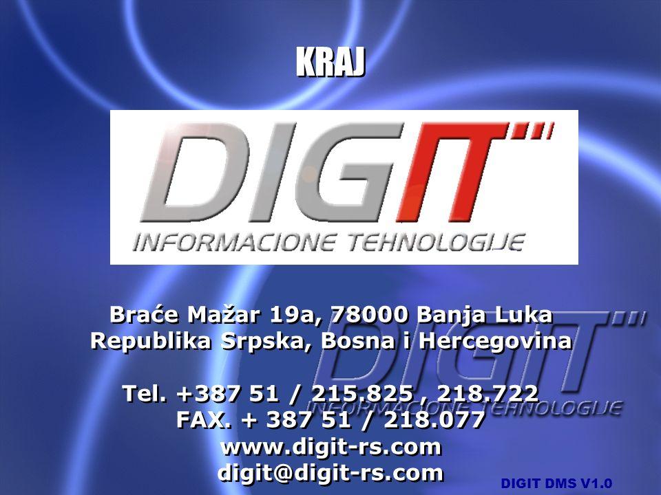 KRAJ Braće Mažar 19a, 78000 Banja Luka Republika Srpska, Bosna i Hercegovina Tel. +387 51 / 215.825 , 218.722 FAX. + 387 51 / 218.077.