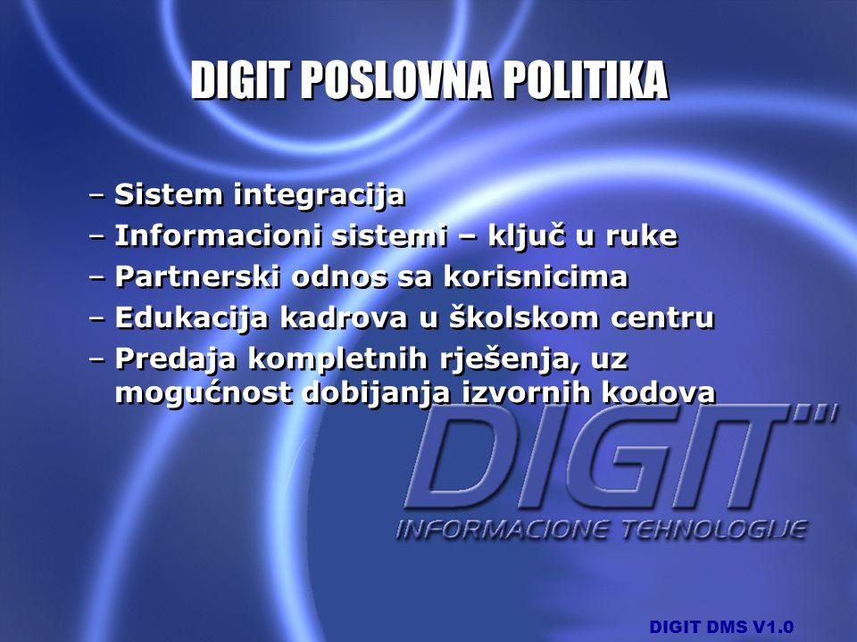 DIGIT POSLOVNA POLITIKA