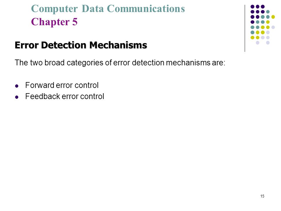 Error Detection Mechanisms