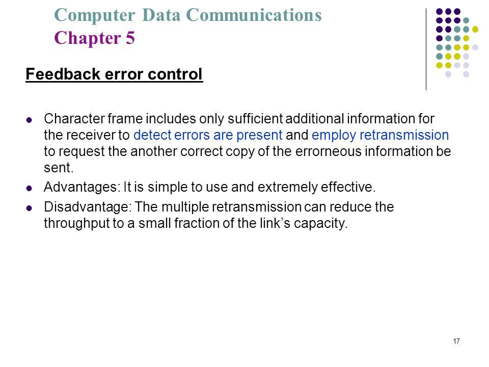 Feedback error control