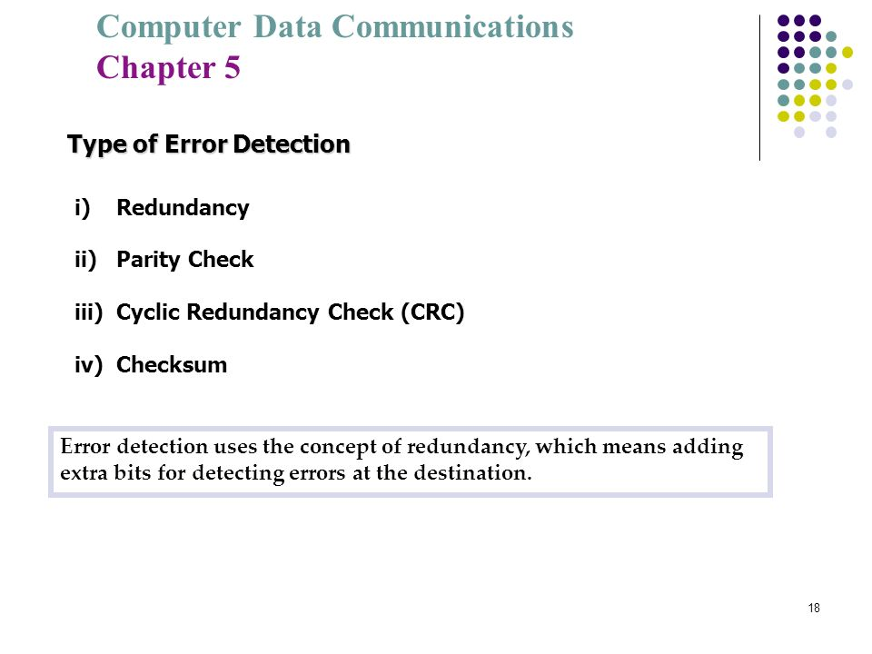 Type of Error Detection