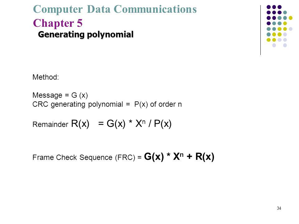 Generating polynomial