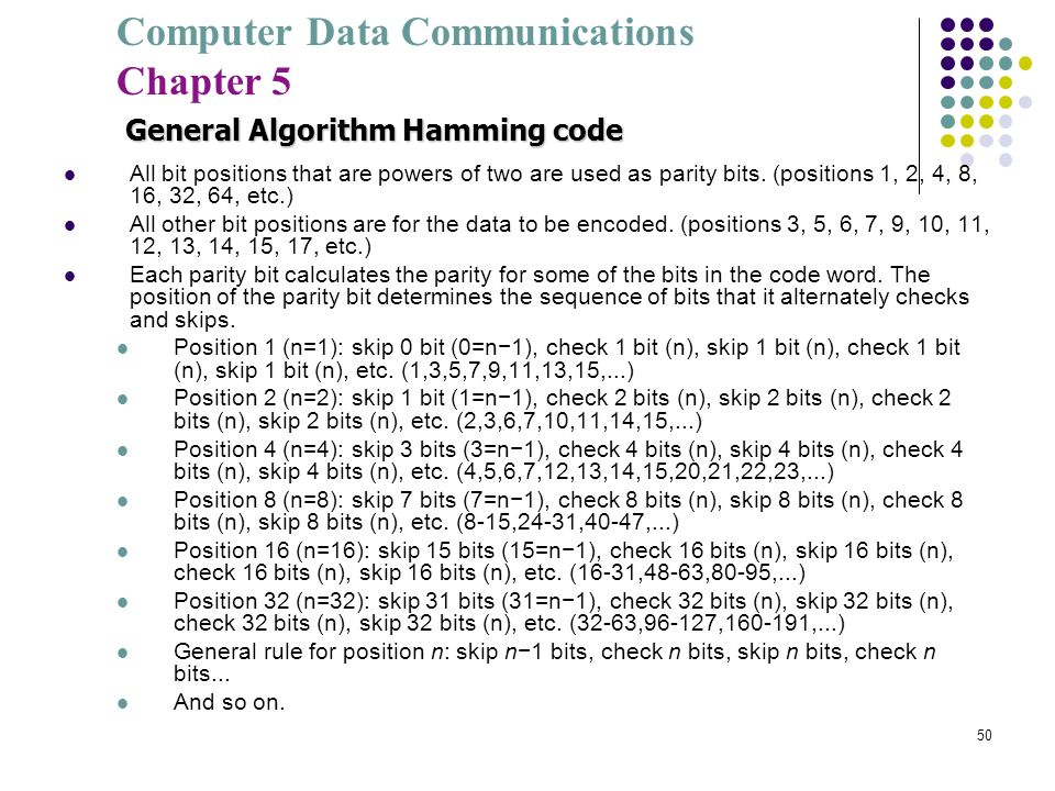 General Algorithm Hamming code