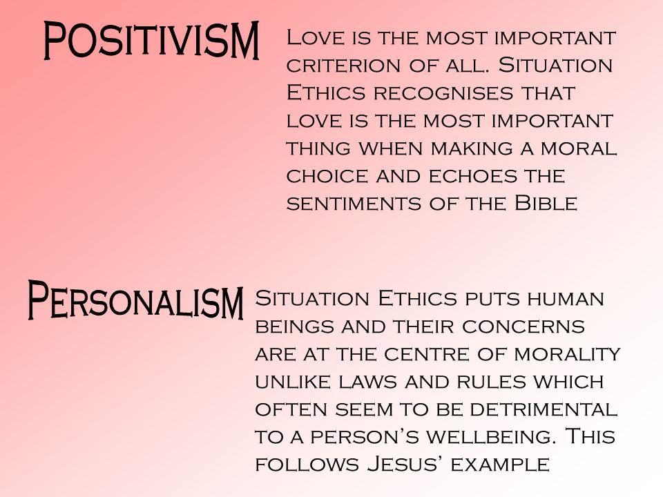 positivism Personalism