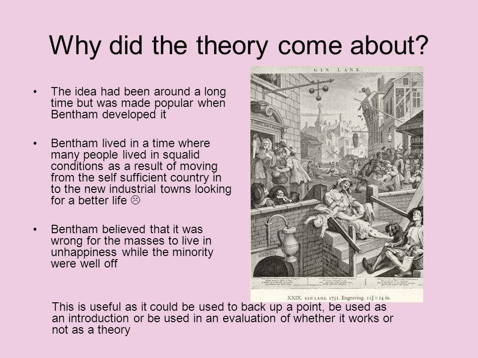 Why did the theory come about