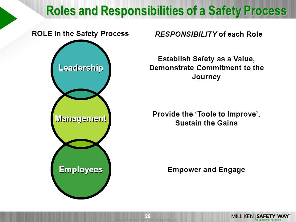 Roles and Responsibilities of a Safety Process