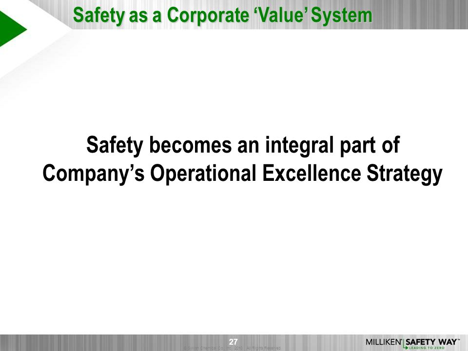 Safety becomes an integral part of