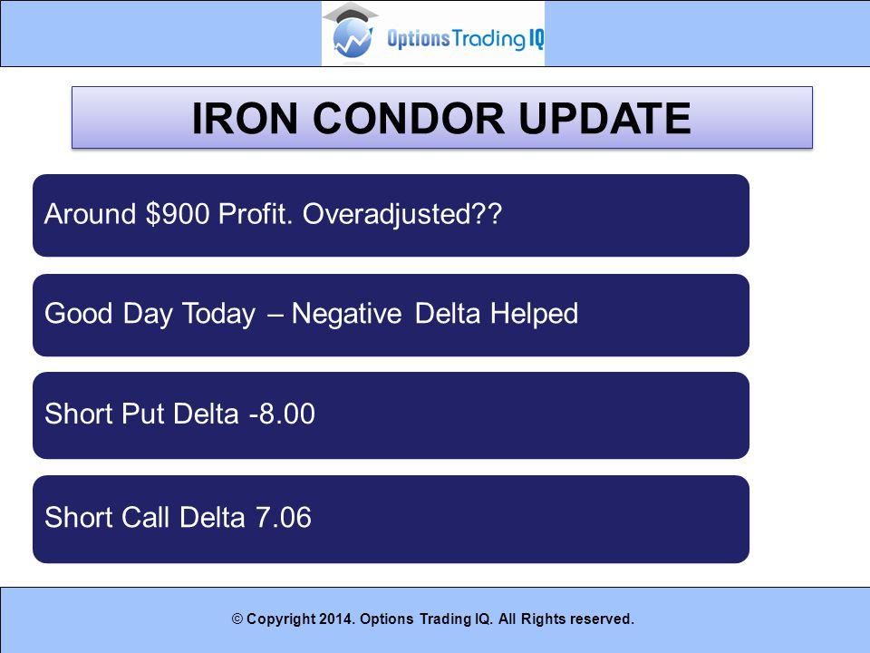 IRON CONDOR UPDATE Around $900 Profit. Overadjusted