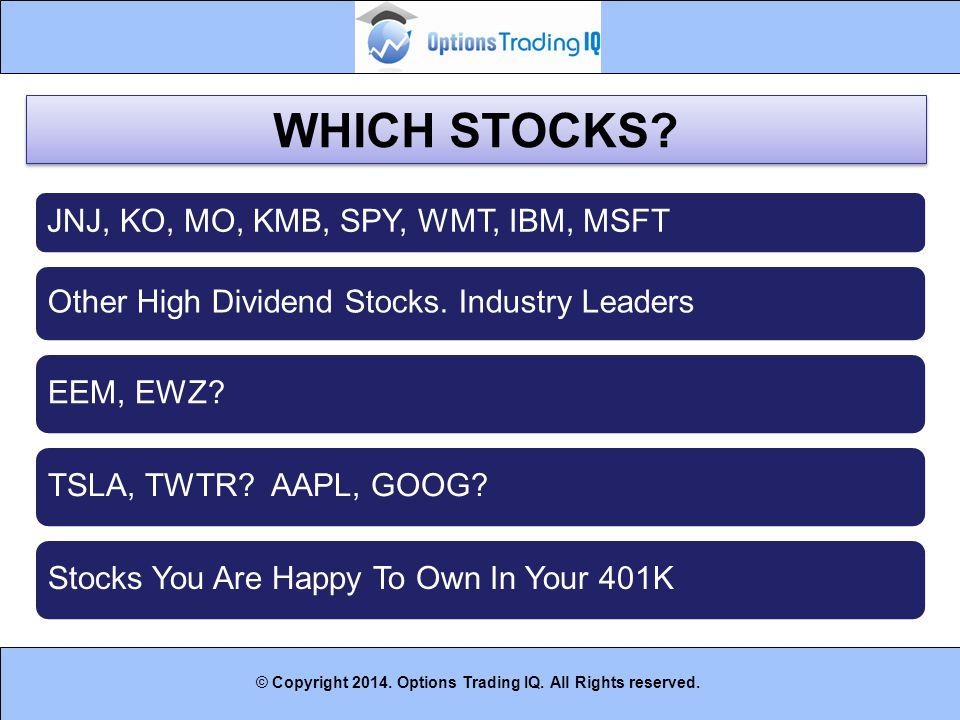 WHICH STOCKS JNJ, KO, MO, KMB, SPY, WMT, IBM, MSFT