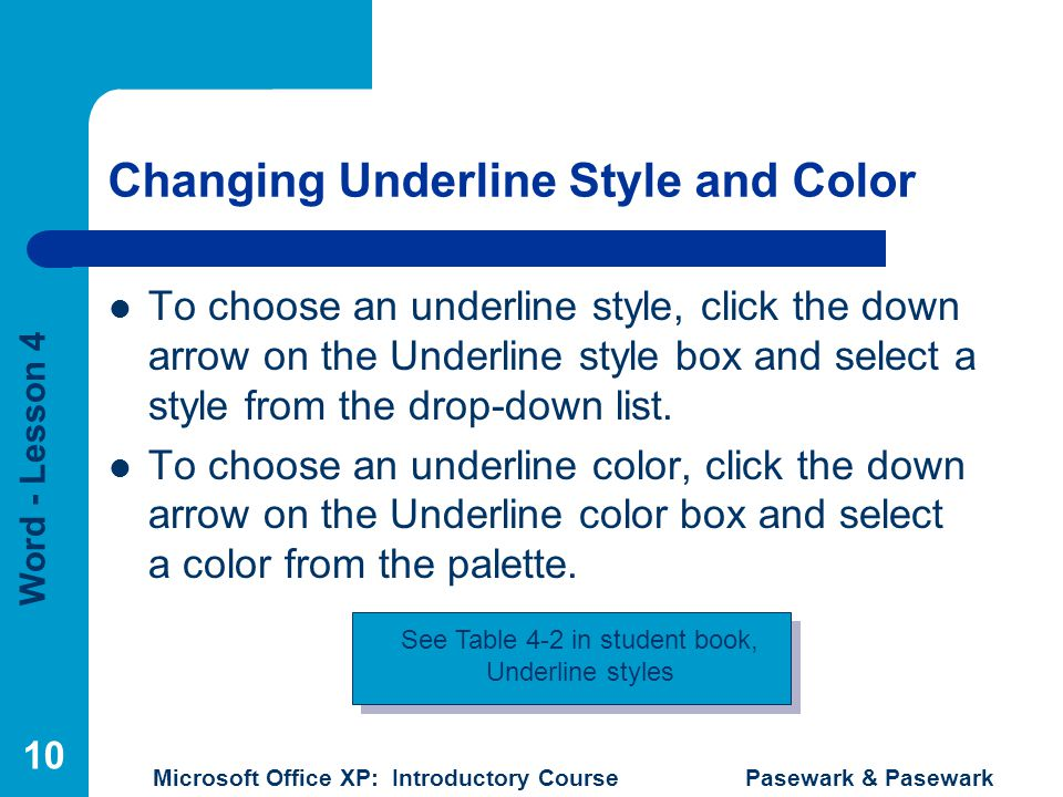 Changing Underline Style and Color