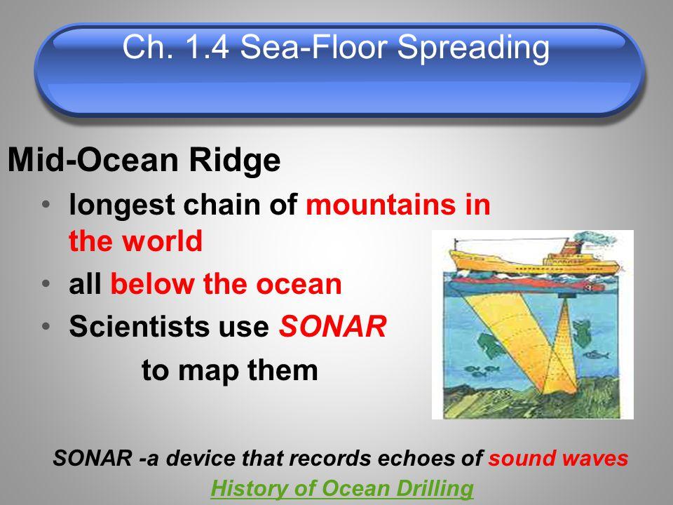 Ch. 1.4 Sea-Floor Spreading