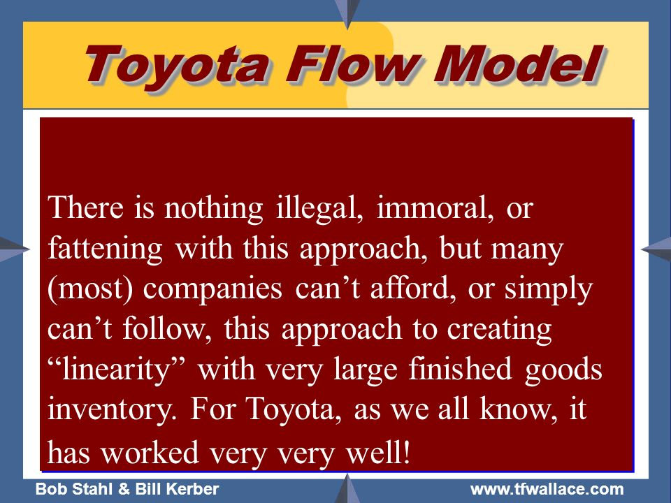 Toyota Flow Model