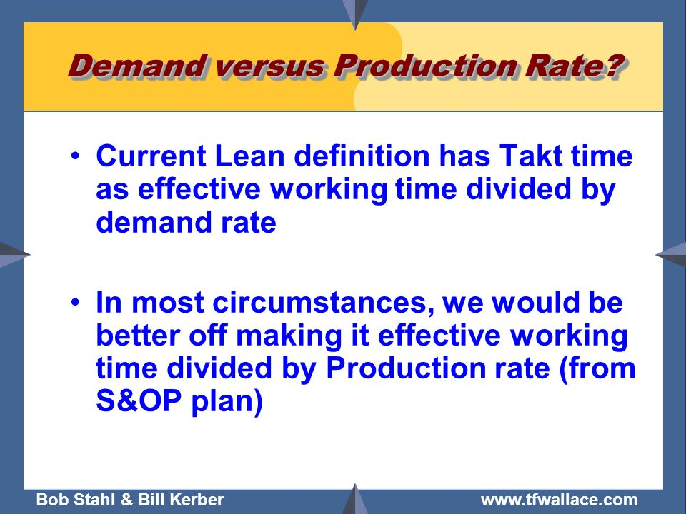 Demand versus Production Rate