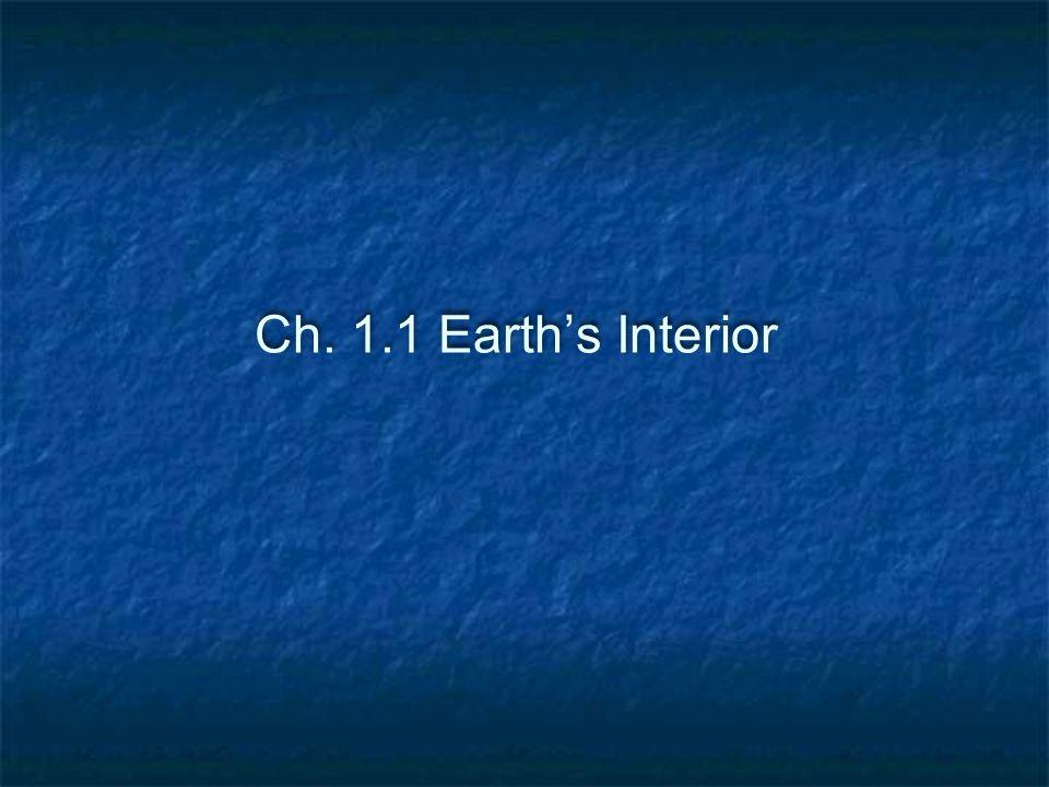 Ch. 1.1 Earth's Interior