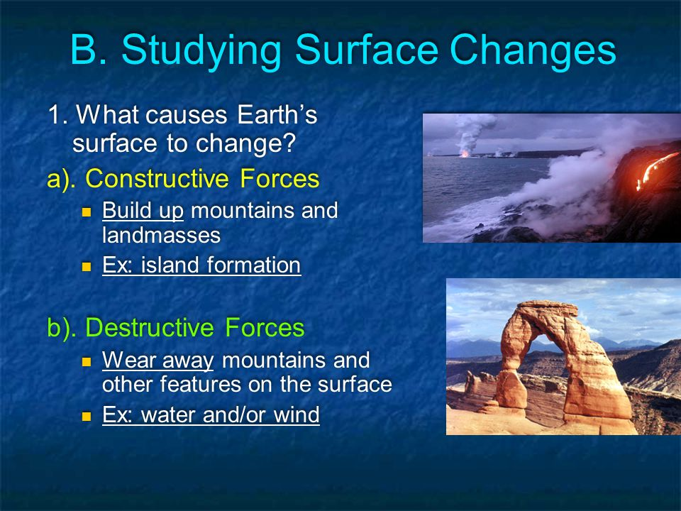 B. Studying Surface Changes