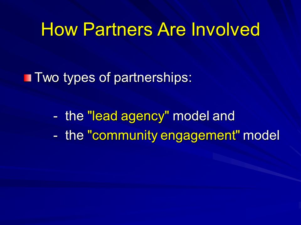 How Partners Are Involved