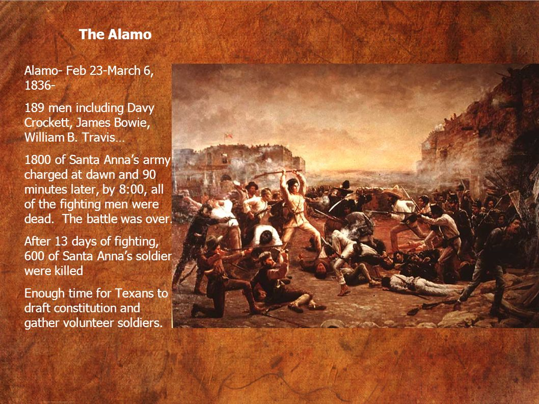 The Alamo Alamo- Feb 23-March 6, 1836-