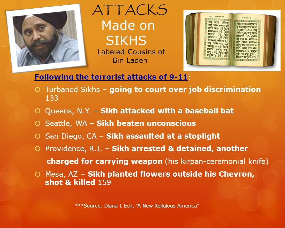 ATTACKS Made on SIKHS Labeled Cousins of Bin Laden