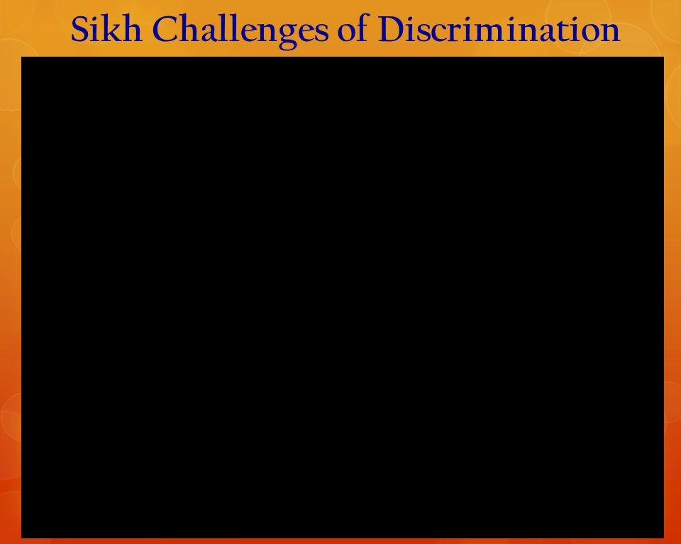 Sikh Challenges of Discrimination