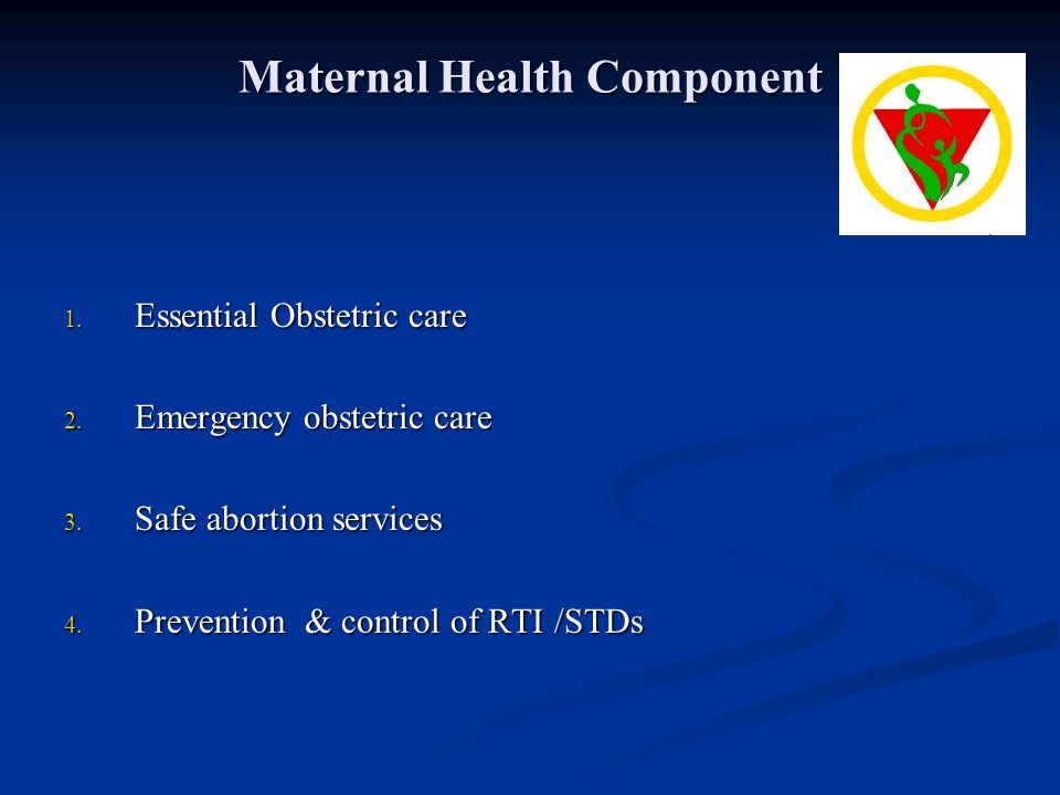 Maternal Health Component