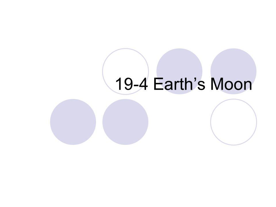 19-4 Earth's Moon