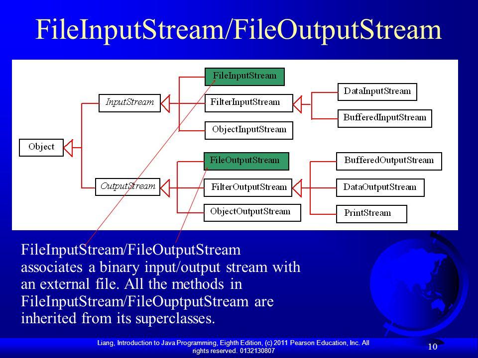 FileInputStream/FileOutputStream