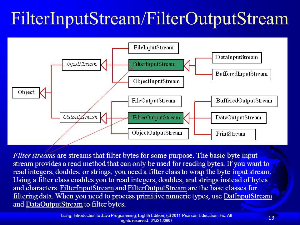 FilterInputStream/FilterOutputStream