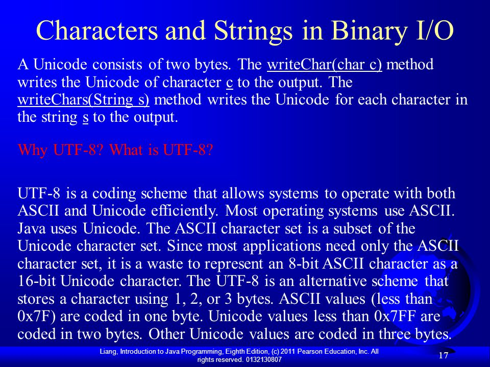 Characters and Strings in Binary I/O