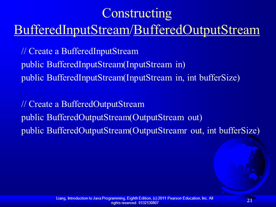 Constructing BufferedInputStream/BufferedOutputStream
