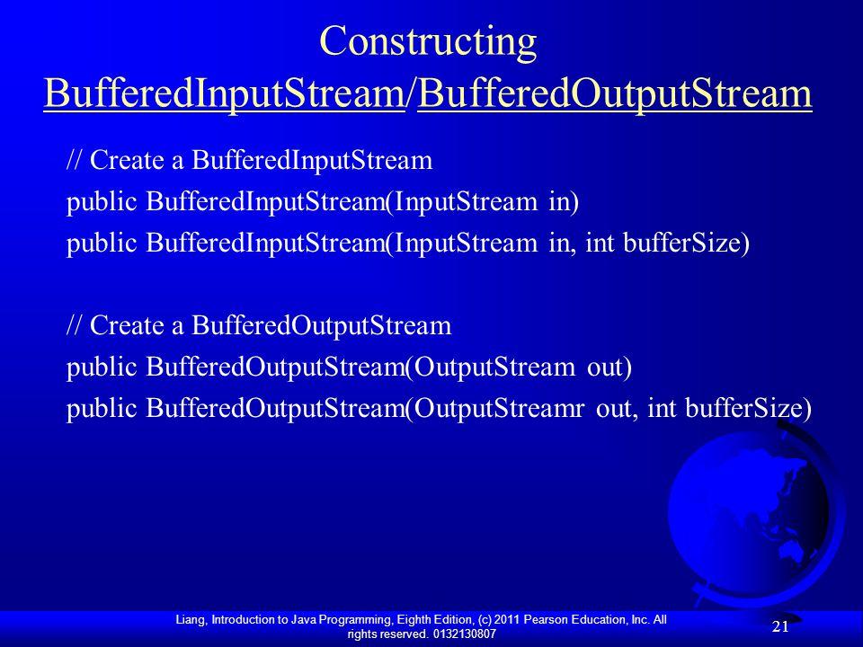 Constructing BufferedInputStream/BufferedOutputStream