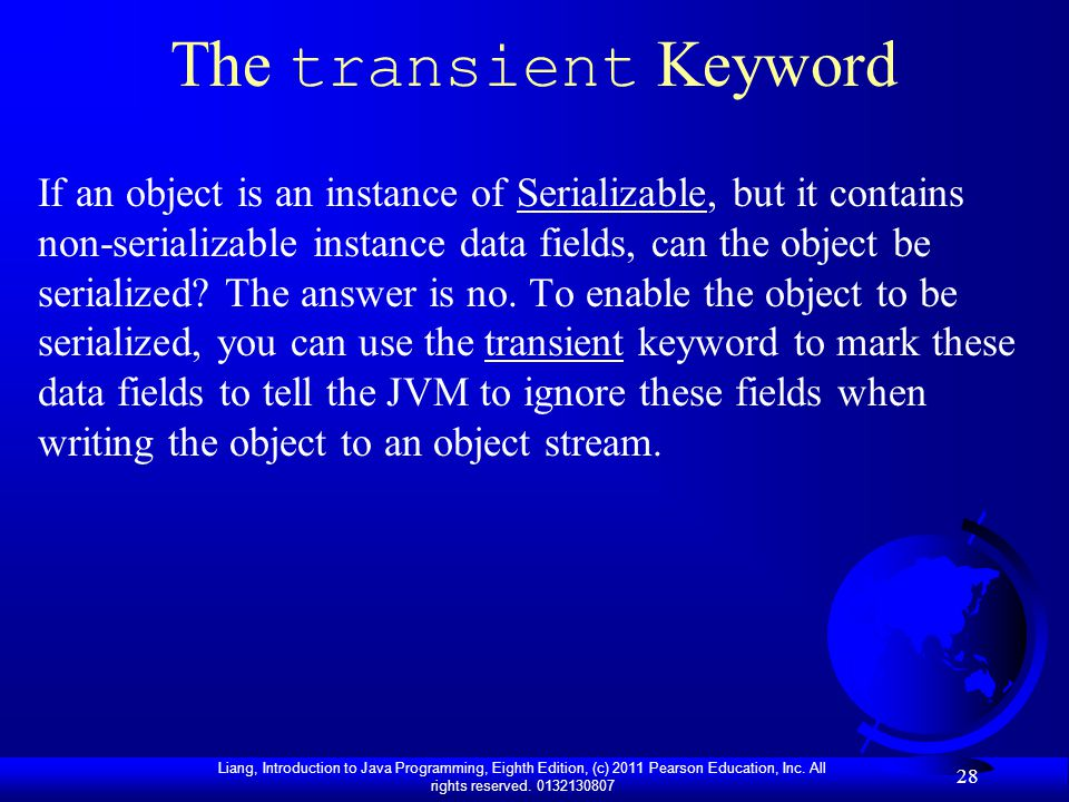 The transient Keyword