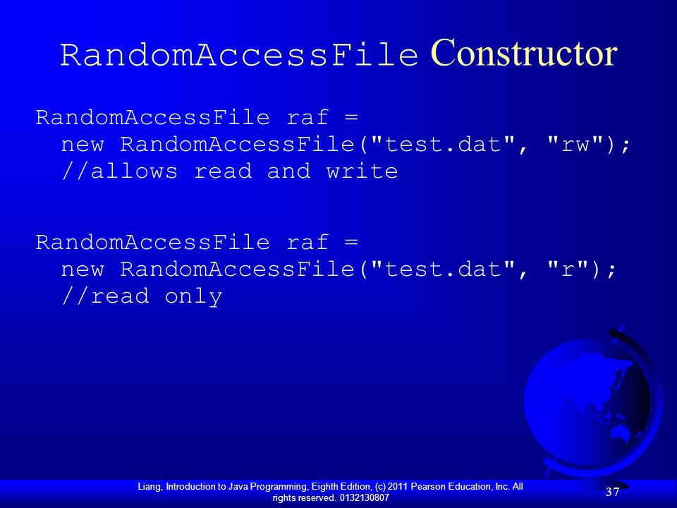 RandomAccessFile Constructor